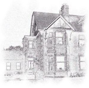 drawing of Grassington House